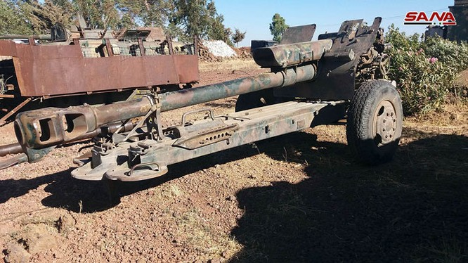 Vũ khí lực lượng Hồi giáo cực đoan giao nộp ở tỉnh Quneitra