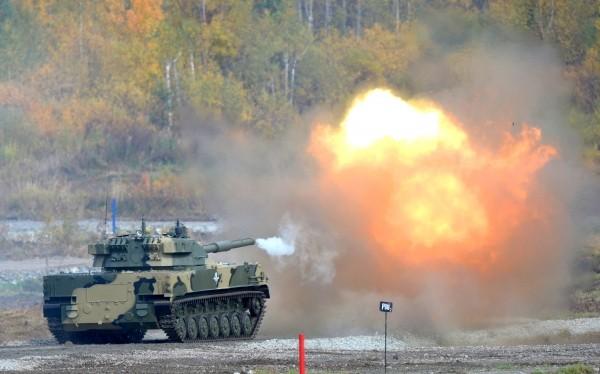 Sát thủ diệt tăng Sprut SDM-1 khai hỏa. Ảnh minh họa RG