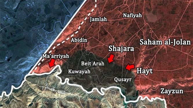 Cuộc tấn công của sư đoàn cơ giới số 4 vào thị trấn Shajarah ngày 31.07.2018. Ảnh minh họa South Front