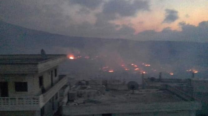 Quân đội Syria pháo kích dữ dội lực lượng Hồi giáo cực đoan ở Hama. Ảnh minh họa Masdar News