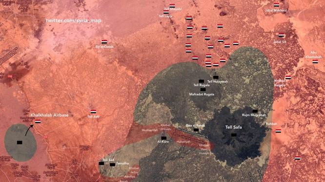 Tình hình chiến sự khu vực sa mạc phía đông tỉnh Sweida. Ảnh minh họa South Front