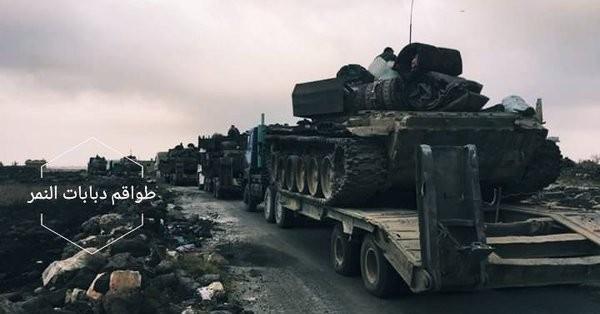 Các đơn vị chủ lực của sư đoàn Tiger bắt đầu cơ động về Idlib. Ảnh minh họa Masdar News
