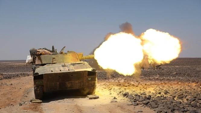 Quân đội Syria tấn công truy quét IS trên vùng hoang mạc Sweida