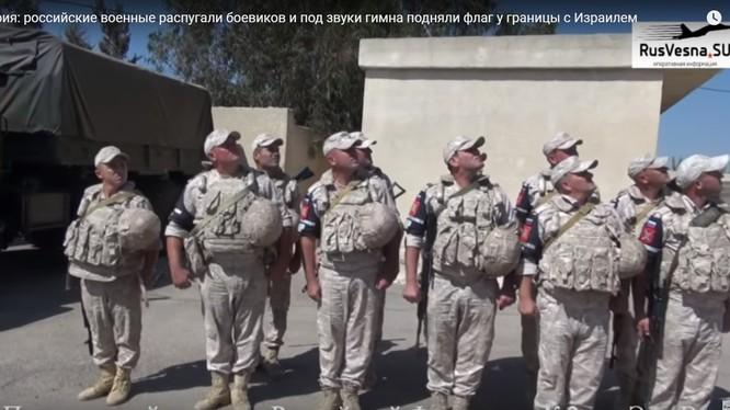 Quân cảnh Nga trên khu vực biên giới Israel - Syria. Ảnh minh họa video Rusvesna