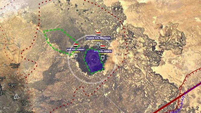 Bản đồ chiến trường núi Al-Safa, thuộc hoang mạc Sweida. Ảnh South Front
