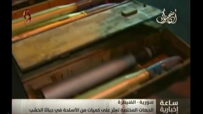 Quân đội Syria thu giữ kho vũ khí của lực lượng Hồi giáo cực đoan. Ảnh minh họa video Al-Ikhbariya