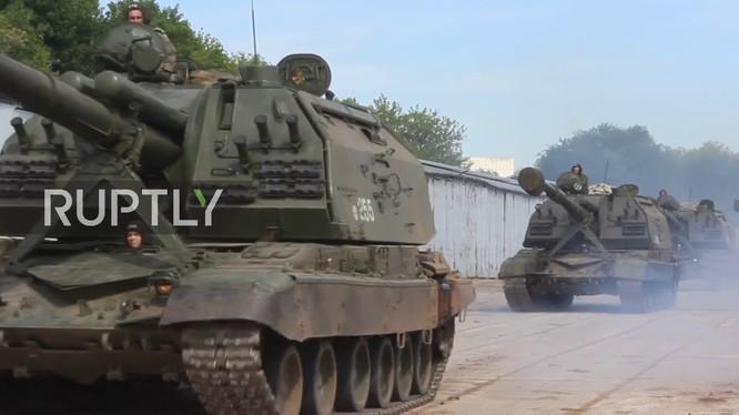 Quân đội Nga chuẩn bị cho diễn tập quy mô lớn Vostok - 2018. Ảnh minh họa Masdar News