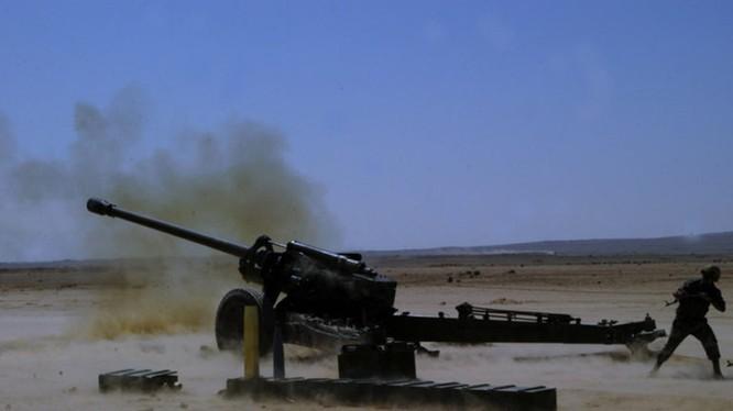 Quân đội Syria pháo kích trên chiến trường Idlib, Hama. Ảnh minh họa South Front