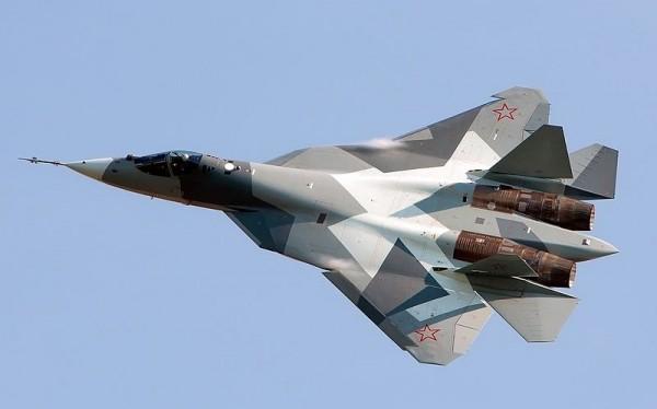Máy bay tiêm kích tàng hình Su-57. Ảnh minh họa Russian Gazeta