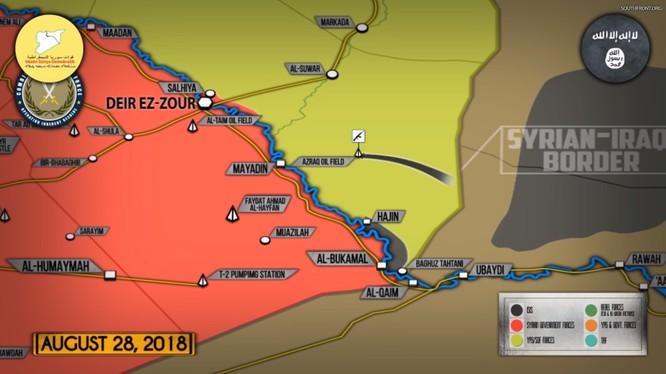 Khủng bố IS tấn công khu vực mỏ dầu của SDF. Ảnh minh họa video South Front