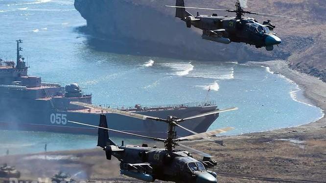 Hải quân Nga diễn tập chiến đấu. Ảnh minh họa Rusvesna