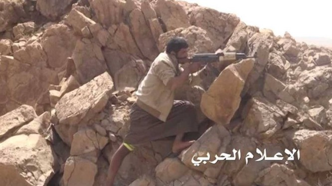 Xạ thủ bắn tỉa của lực lượng Houthis. Ảnh minh họa Masdar News