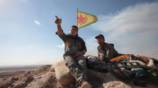 Lực lượng dân quân người Kurd trên chiến trường Afrin. Ảnh minh họa Masdar News