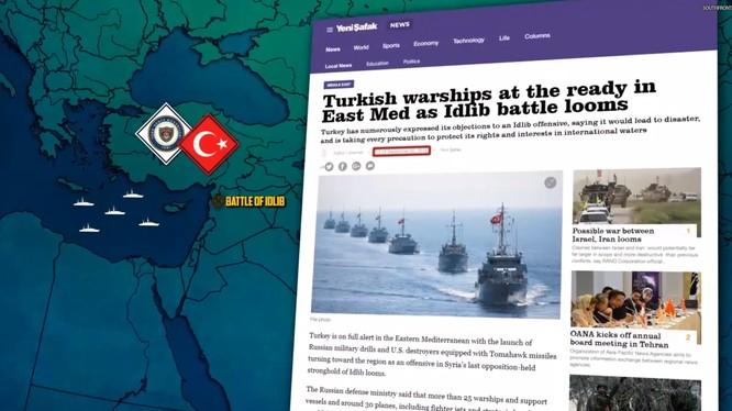 Quân đội Thổ Nhĩ Kỳ tăng cường lực lượng Hải quân trên Địa Trung Hải. Ảnh minh họa video South Front