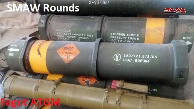 Quân đội Syria thu giữ vũ khí phương Tây ở Sweida. Ảnh minh họa SANA
