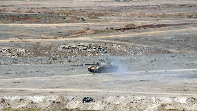Quân đội Syria tấn công quyết liệt núi lửa Al-Safa thuộc tỉnh Sweida. Ảnh minh họa South Front