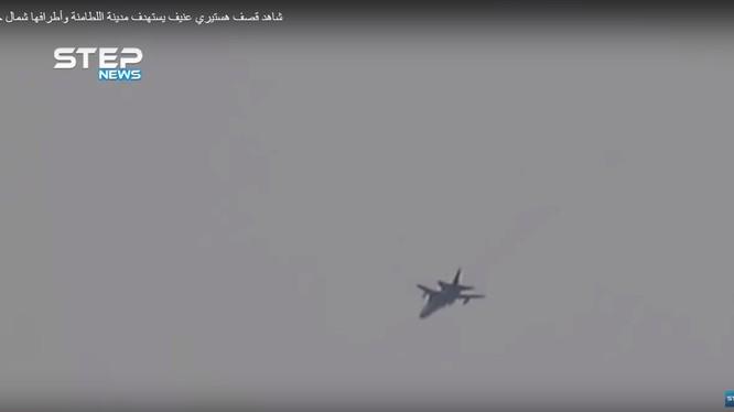 Không quân Syria không kích tỉnh Hama, Idlib. Ảnh minh họa video.
