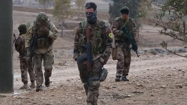 Các chiến binh bí mật người Kurd ở Afrin. Ảnh minh họa Masdar News