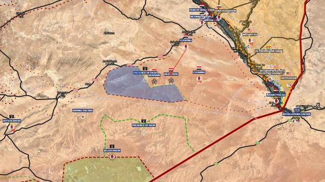Toàn cảnh tình hình chiến trường sa mạc phía đông Syria. Ảnh minh họa South Front