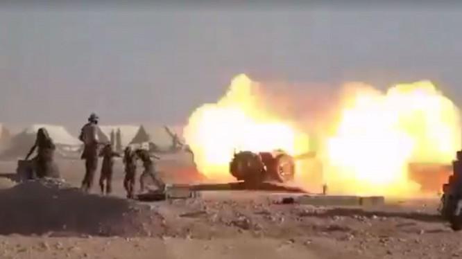Pháo binh, tên lửa quân đội Syria tấn công tiêu diệt IS ở Deir Ezzor. Ảnh minh họa Masdar News