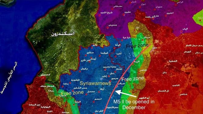 Khu vực phi quân sự giữa lực lượng Hồi giáo cực đoan và quân đội Syria trong khu vực Idlib