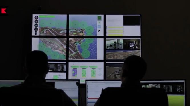 Trung tâm hệ thống chỉ huy, điều hành phòng ngự mục tiêu bằng trí tuệ nhân tạo. Video Kalashnikov Media
