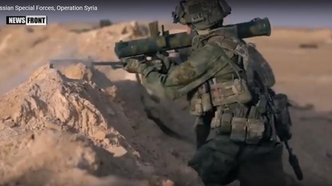 Lực lượng đặc nhiệm Nga chiến đấu ở Syria. Ảnh minh họa Masdar News