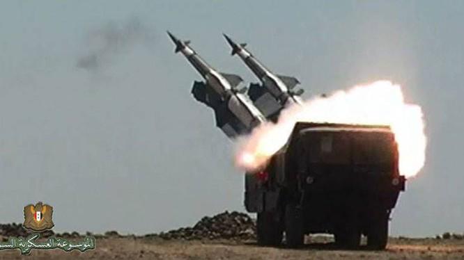 Tổ hợp tên lửa phòng không nâng cấp Pechora-2M quân đội Syria. Ảnh minh họa phòng không Syria.