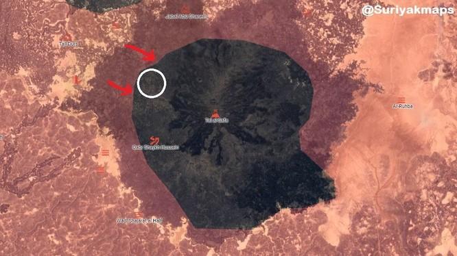 Bàn đồ tình hình chiến sự vùng hẻm núi Al-Safa thuộc tỉnh Sweida. Ảnh minh họa South Front