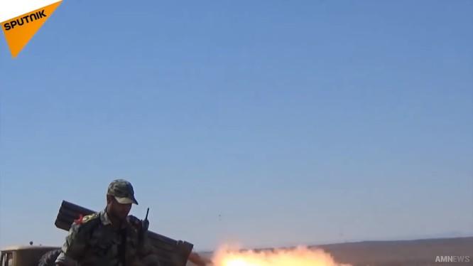 Quân đội Syria tiếp tục cuộc tiến công núi lửa Al-Safa. Ảnh minh họa Masdar News