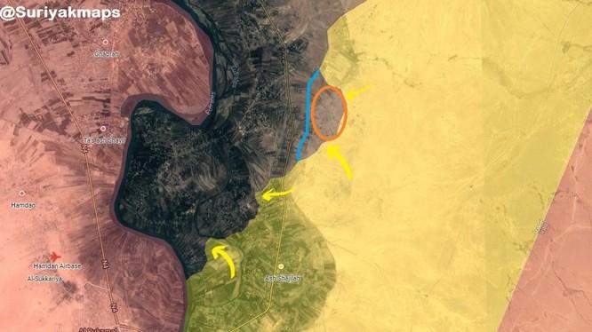 Các mũi tiến công của lực lượng SDF trên chiến trường thung lũng phía đông sông Euphrates