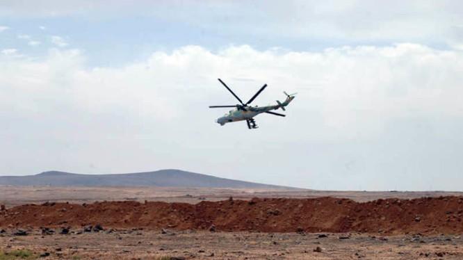 Trực thăng chiến đấu Nga trên không phận chiến trường Al-Safa. Ảnh minh họa South Front