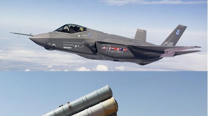 F35 và S-300, ảnh minh họa của DEBKAfile