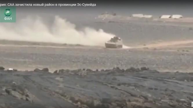 Quân đội Syria tiếp tục tập trung binh lực tấn công Al-Safa/ Ảnh minh họa video FAN