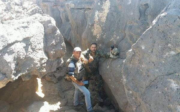 Binh sĩ quân đội Syria trên chiến trường Al-Safa. Sweida