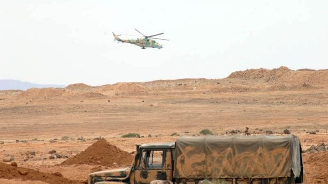 Không quân Syria yểm trợ quân đội tiến công trên chiến trường Al-Safa. Ảnh minh họa: South Front.