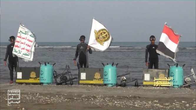 Lực lượng Hải quân đặc nhiệm Houthi cùng vũ khí mới. Ảnh minh họa South Front