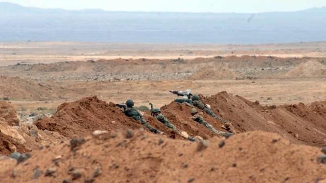Binh sĩ quân đội Syria trên chiến trường Al-Safa. Ảnh minh họa South Front