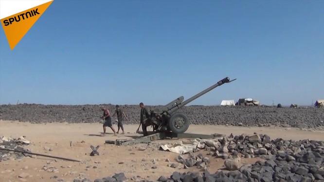 Pháo binh quân đội Syria tập kích hỏa lực vào Al-Safa. Ảnh minh họa: Sputnik.