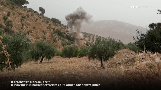 Lực lượng du kích YPG tấn công tiêu diệt các tay sung FSA ở Afrin. Ảnh minh họa video YPG Press Office