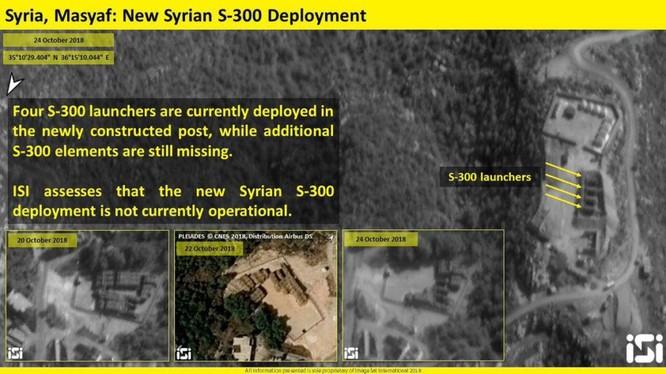Bức ảnh của iSi ghi lại trận địa, được cho là của S-300 Syria và các xe phóng.