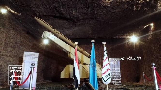 Tên lửa dẫn đường chiến thuật của lực lượng Houthi Badir-1P. Ảnh minh họa: Unews.