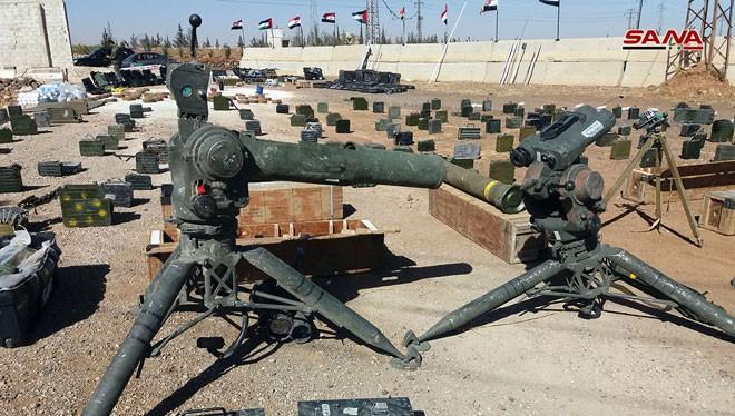 Tổ hợp tên lửa chống tăng TOW do Mỹ sản xuất, được tìm thấy ở Homs.