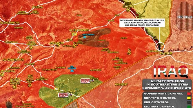 Toàn cảnh bản đồ chiến sự Syria tính đến ngày 03.11.2018 theo South Front.