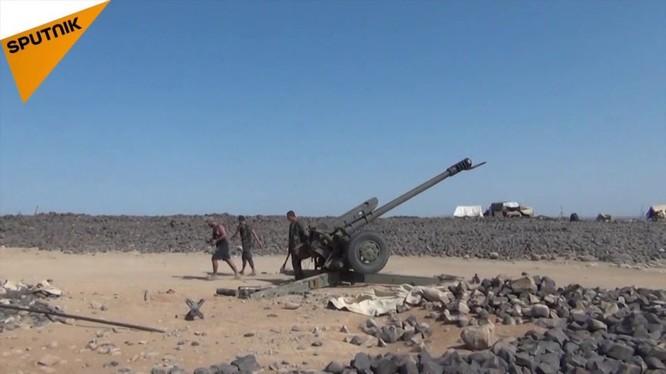 Quân đội Syria pháo kích tấn công khủng bố. Ảnh: Sputnik.