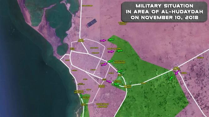 Chiến tuyến thành phố ven biển al-Hudaydah. Ảnh minh họa: South Front.