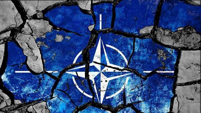 """Biểu tượng NATO trong cuộc diễn tập Trident Juncture"""". Ảnh Rusvesna"""