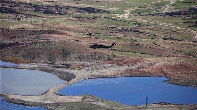 Máy bay trực thăng quân sự Mỹ trên chiến trường al-Hasakah phía đông bắc Syria. Ảnh minh họa: South Front.