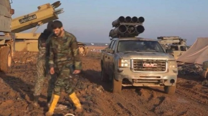 Tổ hợp tên lửa mặt đất Golan-1000 trên chiến trường Al-Safa