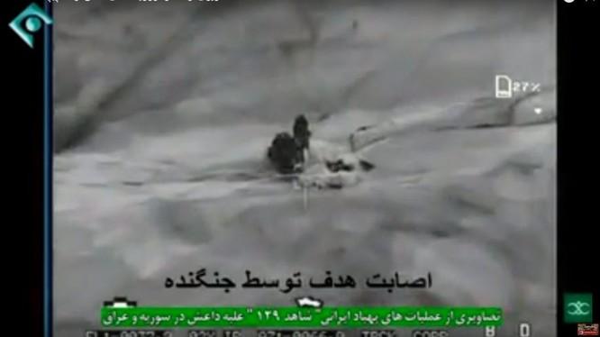 Máy bay không người lái tấn công Shahed -129 của Iran không kích. Ảnh minh họa video BisimG